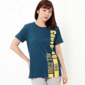 ランニング トレーニングウェア レディース 綿タッチプリント半袖Tシャツ【吸汗速乾・UVケア】 「ターコイズ」