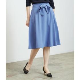 ひざ丈スカート - ROPE' PICNIC リボン付きフレアスカート