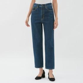 (GU)ハイウエストストレートジーンズ BLUE XL