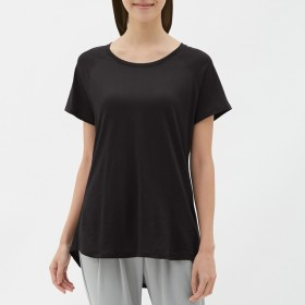 GU ジーユー クリーンクルーネックTシャツ 半袖 レディース