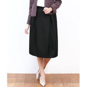 ガール カルゼ生地フレアシルエットスカート レディース ブラック L 【GIRL】