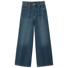 (GU)ハイウエストスーパーワイドジーンズ BLUE M