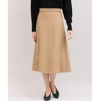 INED L / イネド(エルサイズ) 《セットアップ対応》《大きいサイズ》ウール混フレアスカート