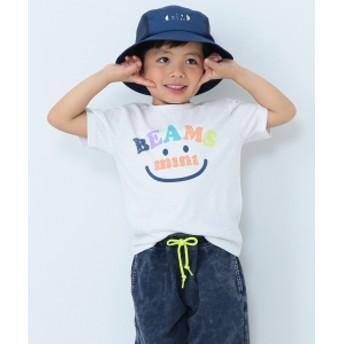 BEAMS mini / スマイルロゴTシャツ19S (90~120㎝) キッズ Tシャツ OFF WHT 100