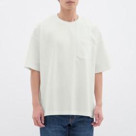 (GU)スーパービッグT(5分袖) WHITE M
