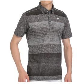 ミズノ(MIZUNO) メンズ ゴルフ ウェア ソーラーカット プリントシャツ ブラック 52MA8008 09 トップス 紫外線対策 おしゃれ 半袖