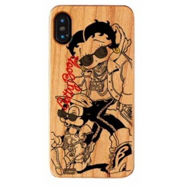 iPhone XS iPhone X ケース ベティ・ブープ ベティー ブープ Betty Boop ベティちゃん iPhoneXS iPhoneX ウッドケース Young 【Gizm】