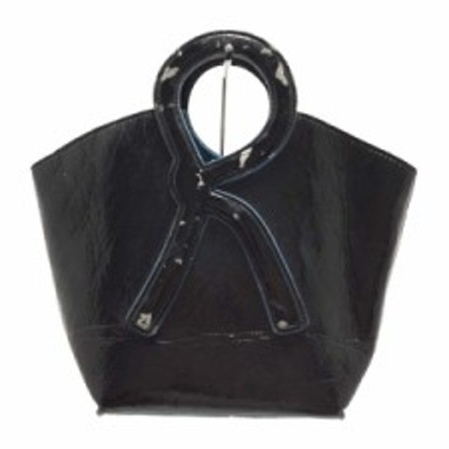 fa5278eeeb49 ロベルタ ディ カメリーノ Roberta di camerino トートバッグ レディース 黒×ブルー ミニサイズ 合皮