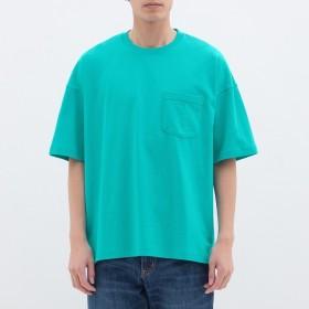 (GU)スーパービッグT(5分袖) BLUE M