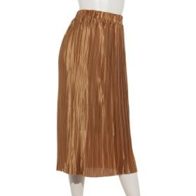 80%OFF aurea (アウレア) プリーツロングスカート キャメル