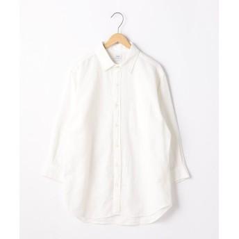 【30%OFF】 コーエン 綿麻千鳥柄7分袖シャツ メンズ WHITE LARGE 【coen】 【セール開催中】
