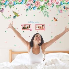 ウォールステッカー 壁紙シール 牡丹 ぼたん 小鳥 鳥 ことり お花 花 フラワー 華やか 壁装飾 装飾 ステッカー 雑貨 壁 壁紙 シール 寝室 小