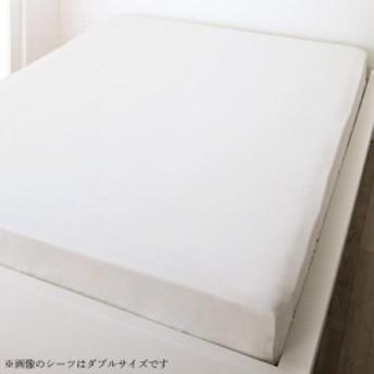 日本製 綿100% ボーダーデザインカバーリング ウィンクル ベッド用ボックスシーツ単品 シングル アイボリー