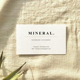 【名入れ】ORDER CARD - MINERAL