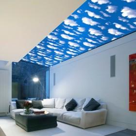 ウォールステッカー 壁紙シール 壁装飾 インテリア 空 雲 青空 ベットルーム 寝室 リビング 居間