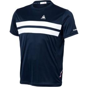 le coq sportif(ルコック) メンズ テニスウェア 半袖シャツ QTULJA31ZZ ネイビー