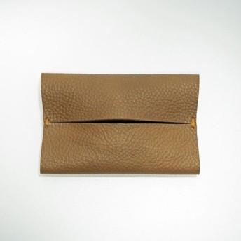 ポケットティッシュケース 本革レザー 手縫いモカ【受注製作】