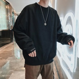 2019 新品 韓国ファッション メンズファッション長袖Tシャツ 男女兼用 メンズ ファッション メンズ パーカー アウター トップス 長袖 Tシャツ 流行 トレンド 人気商品 上質