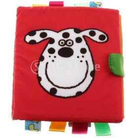 無毒性の柔らかい布の本のかすかな摩擦w /かすれ音ベビーおもちゃ