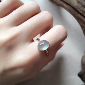 157 k18 翡翠 ヒスイ高級なリング 贅沢指輪 ピンクゴールドリング ダイヤモンドリング ピンクゴール2