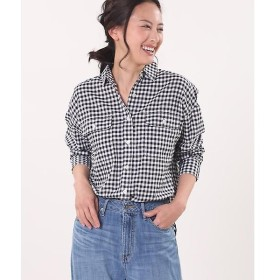 CLEAR IMPRESSION / クリアインプレッション ドロップショルダーワイドシャツ《キュプラクールミックス》