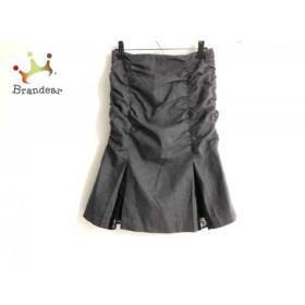 ピンキー&ダイアン Pinky&Dianne スカート サイズ38 M レディース ダークグレー×黒 ラメ/レース   スペシャル特価 20190519