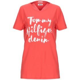 《期間限定セール中》TOMMY JEANS レディース T シャツ 赤茶色 M コットン 60% / ポリエステル 40%