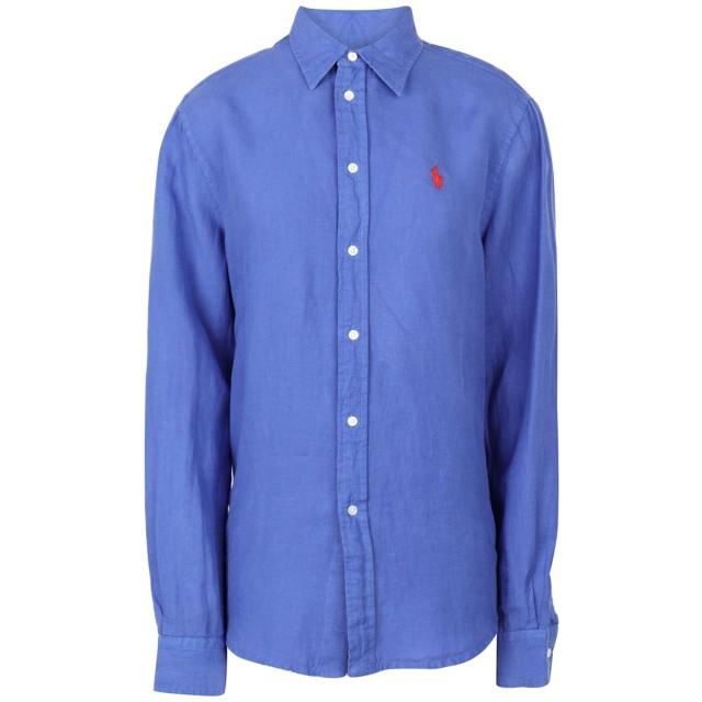《セール開催中》POLO RALPH LAUREN レディース シャツ ブルー XXS 麻 100% Relaxed fit Linen Shirt