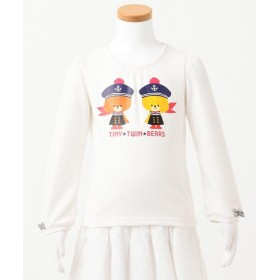 【50%OFF】 エニィファム(キッズ) セーラー ルルロロ Tシャツ レディース ホワイト系 90 【anyFAM KIDS】 【セール開催中】