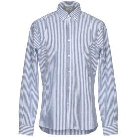《期間限定 セール開催中》BRUNELLO CUCINELLI メンズ シャツ ブルー S コットン 86% / レーヨン 10% / ナイロン 4%