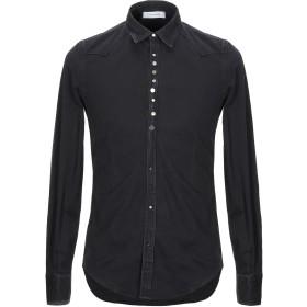 《期間限定セール開催中!》AGLINI メンズ シャツ ブラック 38 コットン 98% / ポリウレタン 2%