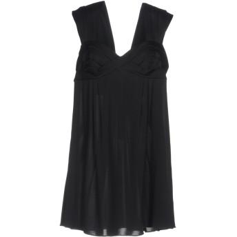 《セール開催中》EMPORIO ARMANI レディース ミニワンピース&ドレス ブラック 46 シルク 65% / レーヨン 35%