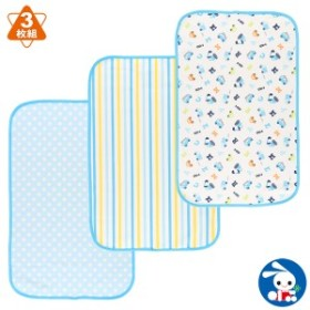 3枚入りおむつ替えシート(ブルー)45×70cm[新生児 おむつ替えシート 乳児 シーツ おむつかえシート 防水 おむつ替えマット おねしょシ