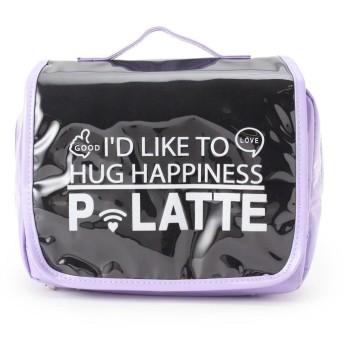 PINK-latte(ピンク ラテ) エナメルトラベルポーチ