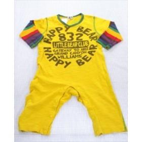 リトルベアークラブ Little Bear Club カバーオール 80cm 黄色/系 ボーダー ベビー服 男の子 子供服 通販 買い取り
