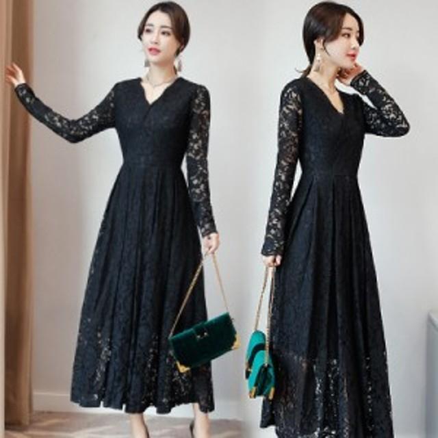 a94a9ba62ed86 即納商品 結婚式 ドレス お呼ばれ ワンピース 50代 演奏会用 ロングドレス 黒 袖
