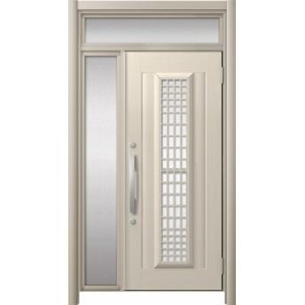 玄関ドア リシェント3 アルミ仕様 ランマ付 C84N型(ガラス別途)採風タイプ 片袖ドア W:907~1,100mm × H:1,973~2,300mm リクシル