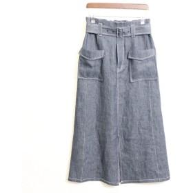 [マルイ]【セール】《麻デニム》 ロング タイトスカート/コムサイズムレデイス(COMME CA ISM)