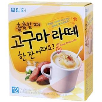 ダムト さつまいも ラテ 18g 12個 さつま芋 芋ラテ 粉末 スティック 韓国 お茶 食品 食材 韓国茶 健康茶 伝統茶 1杯用包装