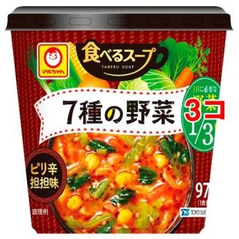 マルちゃん 食べるスープ 7種の野菜 ピリ辛担担味 (29g3コセット)