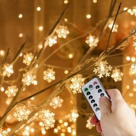 V-Dank LED イルミネーション ライト 8モード ストリングライト 電池 防水 電飾 フェアリーライト 点滅 リモコン操作 クリスマス ツリー 飾り物 高輝度 明るさ調整可能 ウォームホワイト