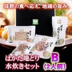 はかた地どり 水炊きセット B (2人前) ト 福岡県 九州 あったか 冬  条件付き送料無料
