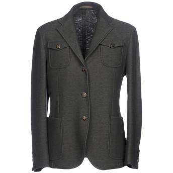 《期間限定セール開催中!》ELEVENTY メンズ テーラードジャケット ダークグリーン 50 バージンウール 100%