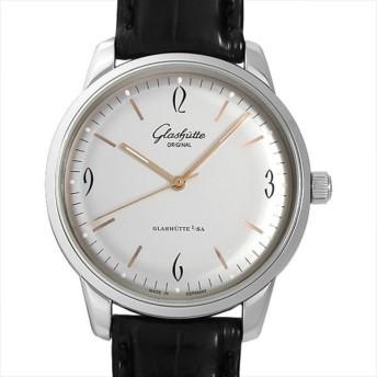 48回払いまで無金利 グラスヒュッテオリジナル セネタ シックスティーズ 1-39-52-01-02-04 中古 メンズ 腕時計 キャッシュレス5%還元
