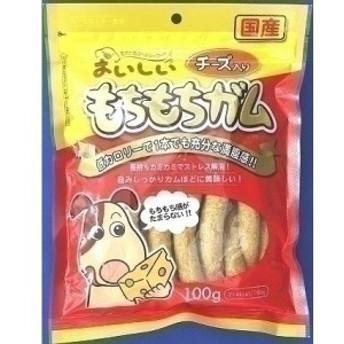 (まとめ買い)九州ペットフード おいしい もちもちガム チーズ入り 100g 犬用 〔×15〕