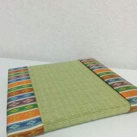 繧繝縁のミニ畳 緑