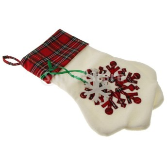 クリスマスの犬の足のツリークリスマスツリー雪のクリスマスのキャンデーの袋クリスマスの飾り