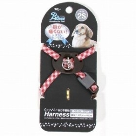 ターキー ビビュードッグ プチチェック8胴輪 2S(超小型犬用) 赤 犬用ハーネス