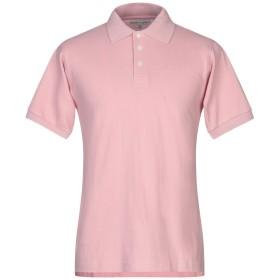 《期間限定セール開催中!》HARDY CROBB'S メンズ ポロシャツ ピンク L コットン 100%