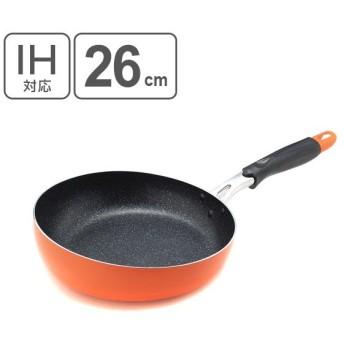 フライパン プチクック くるりんパン 26cm IH対応 ( 炒め鍋 マーブルコート ガス火対応 )